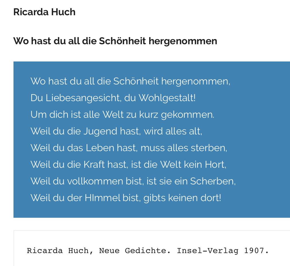 Gedichtinterpretation Ricarda Huch Wo Hast Du All Die